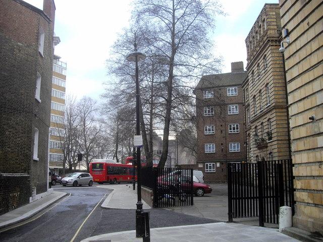 Turpentine Lane, looking toward Lupus Street, Pimlico