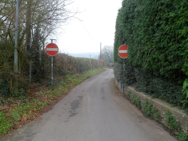 No entry to Chapel Lane, Pwllmeyric