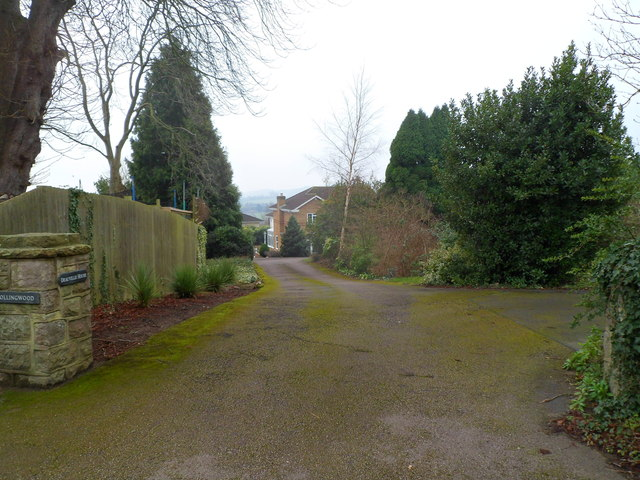 Entrance drive to three houses, Pwllmeyric