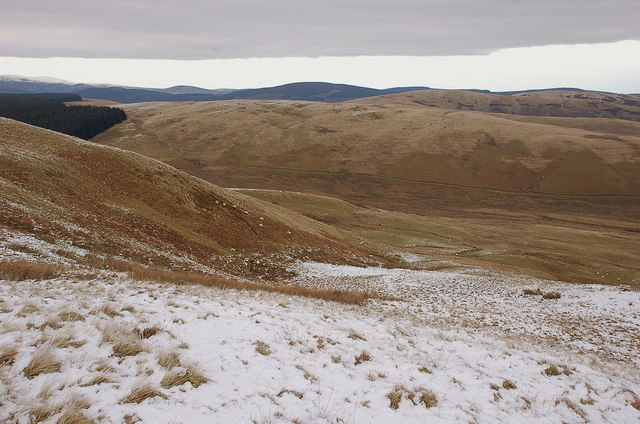 Above Corsens Cleuch, Mountbenger Law