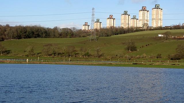 Flood plain, River Clyde