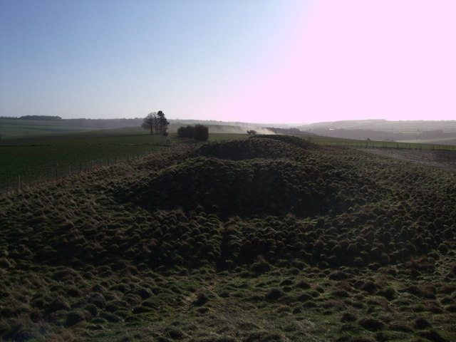 View southeast along the top of Four Barrows
