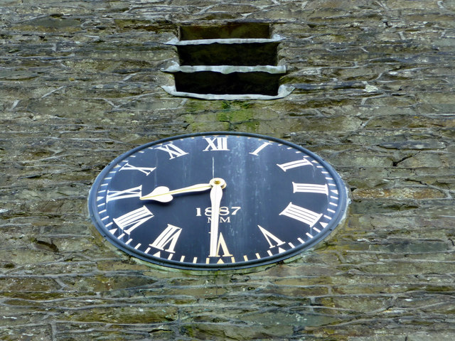 Clock on Tower of Jesus Church, Troutbeck, Cumbria