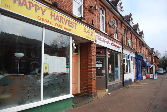 Row of shops, Silverdale Rd