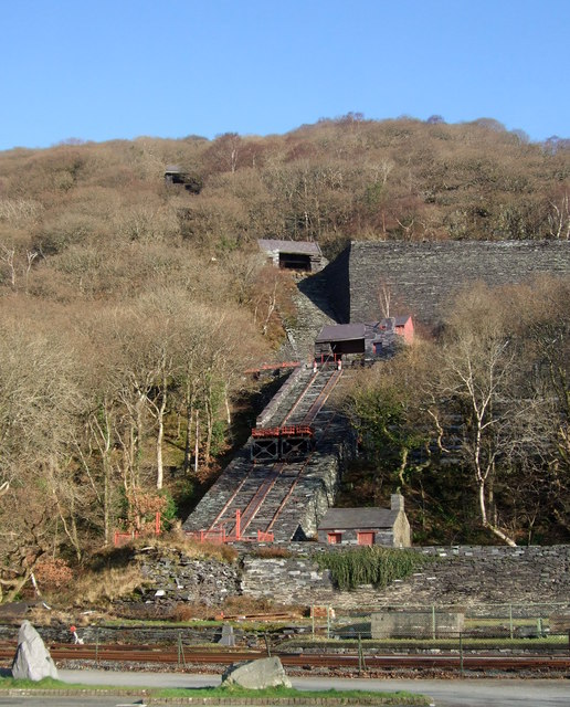 One of the restored inclines at Llanberis