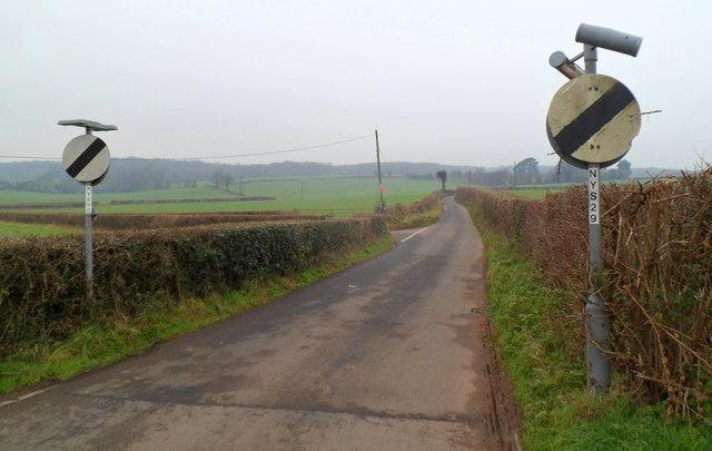 Lane from Pwllmeyric to Mounton and Shirenewton