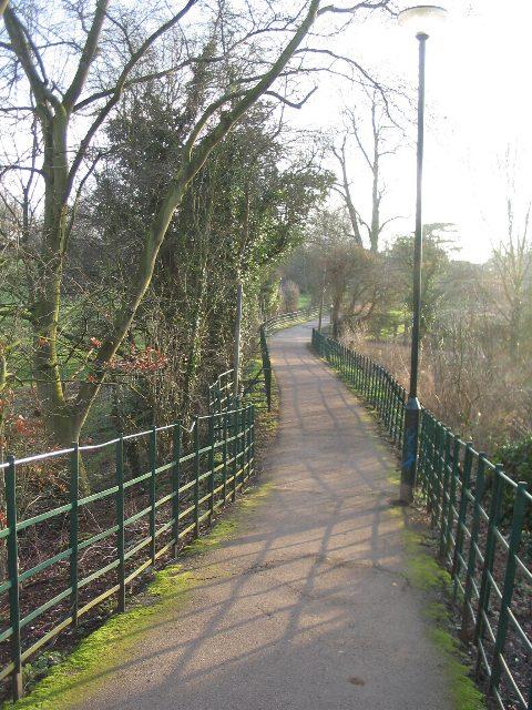 Path across the park