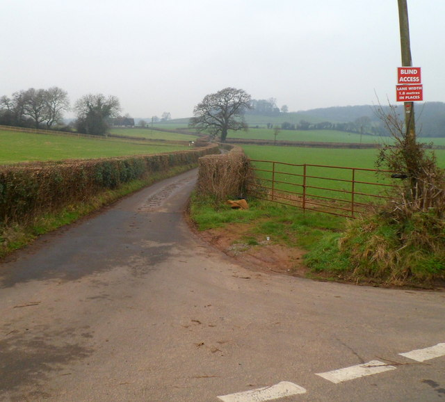 Warning of blind access and very narrow road ahead, west of Pwllmeyric