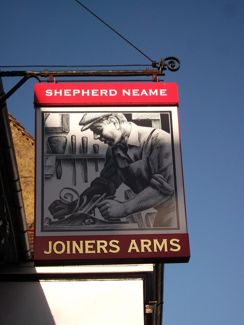 Joiners Arms, Pub Sign, West Malling