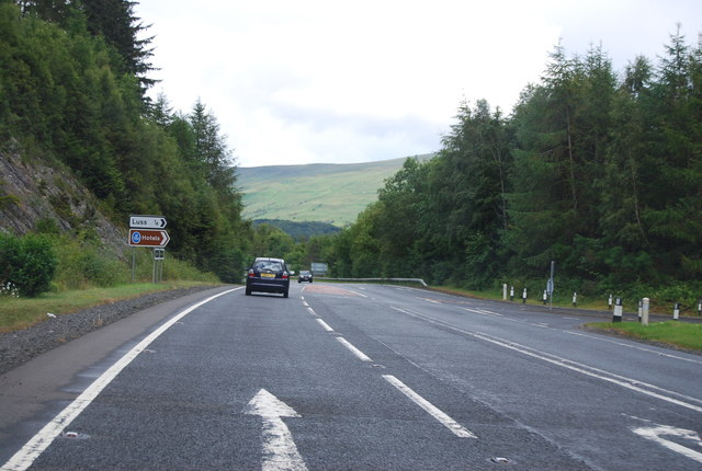 Luss turn off, A82