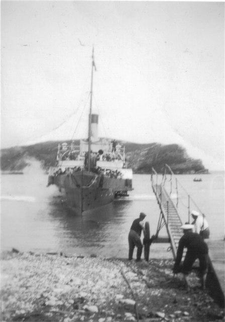 Paddle steamer at Lulworth