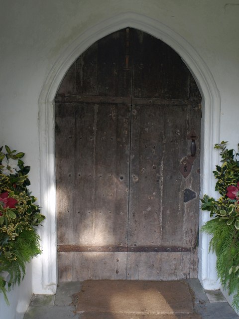 Church door, Combe Raleigh
