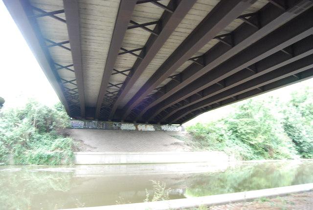 Below the M20 bridge