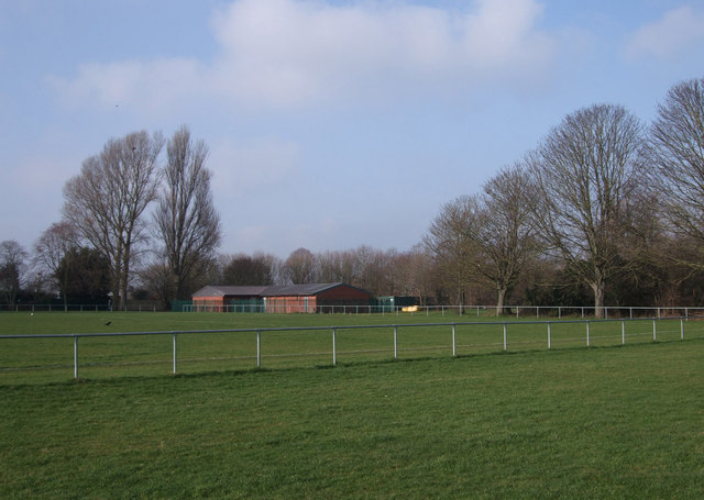 Football pitch and Parks Department building, Pinehurst