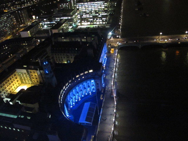 County Hall from London Eye by night