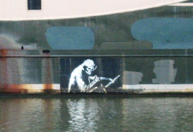 Banksy on the side of Thekla