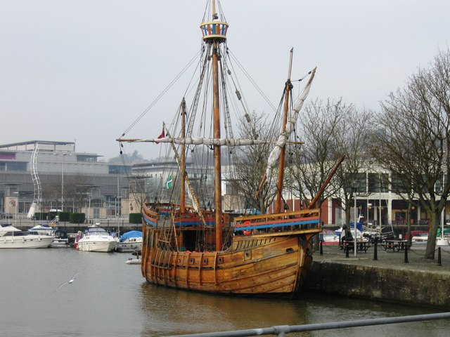 Replica ship, Floating Harbour, Bristol