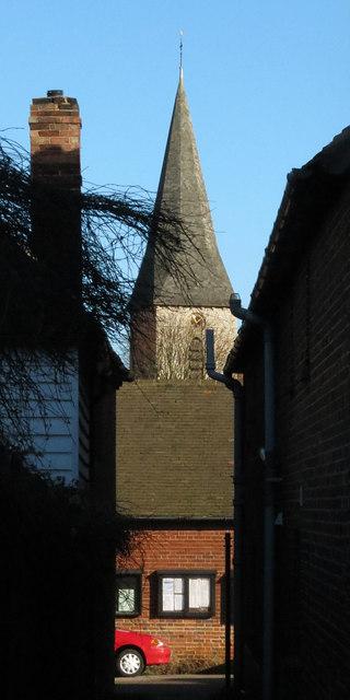 Spire of church of Ickham Church