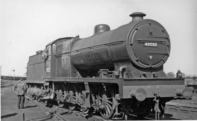 LMS Fowler 0-8-0 at Aintree Locomotive Depot