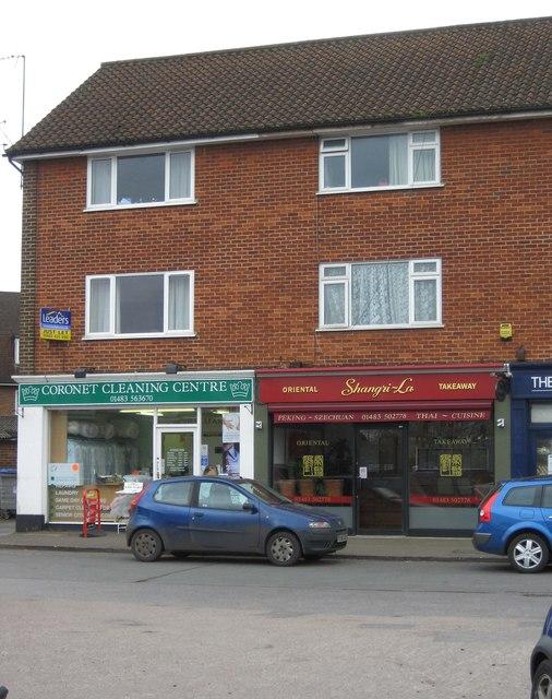 Coronet Cleaning Centre & Shangri-La, Kingpost Parade, Burpham, Guildford