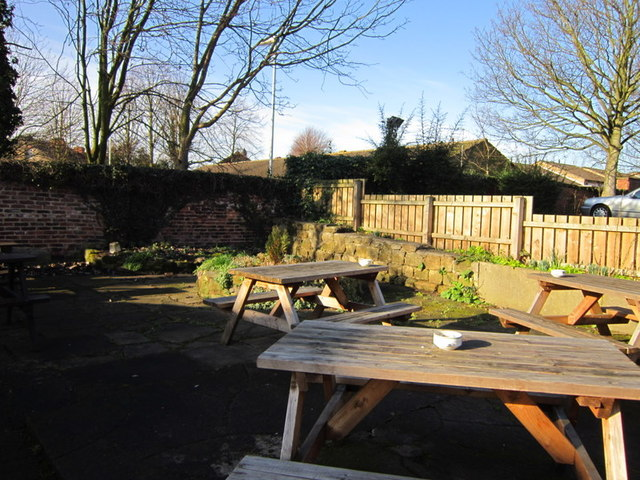 The beer garden at the Barley Corn Inn