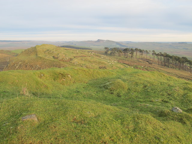 (The course of) Hadrian's Wall west of Alloa Lee