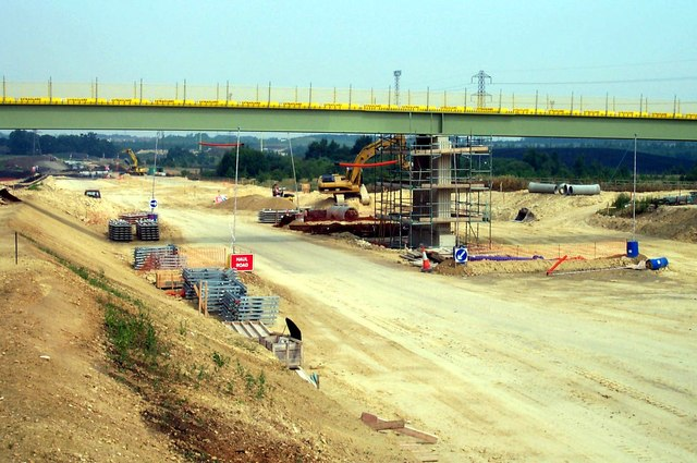 Bridge Construction over new A1M Motorway.
