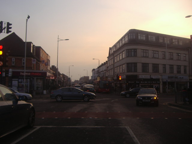 Junction of Barley Lane and Goodmayes High Road