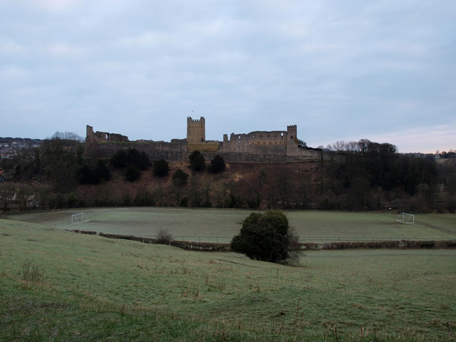 The Football Pitch on The Earl's Orchard Ground beneath Richmond Castle