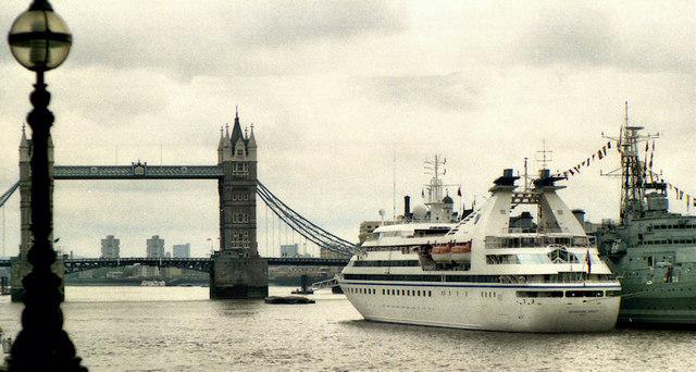"The ""Seabourn Spirit"", London"