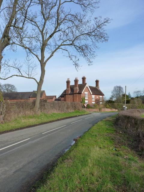Arscott Villa and a junction of lanes
