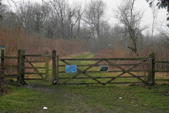 Entrance gates to South Moon Ridings nature reserve