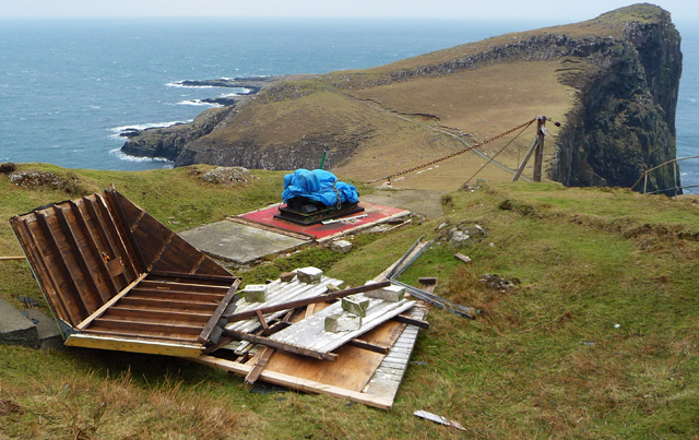 Remains of the Motor house for the Neist Point cableway