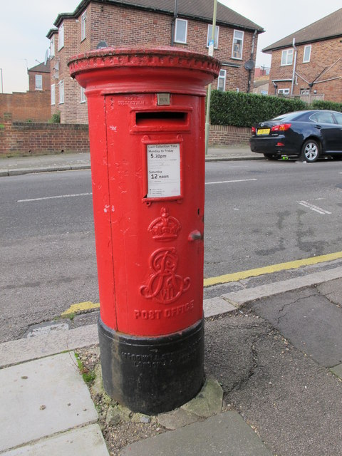 Edward VII postbox, Dartmouth Road / Park Road, NW4