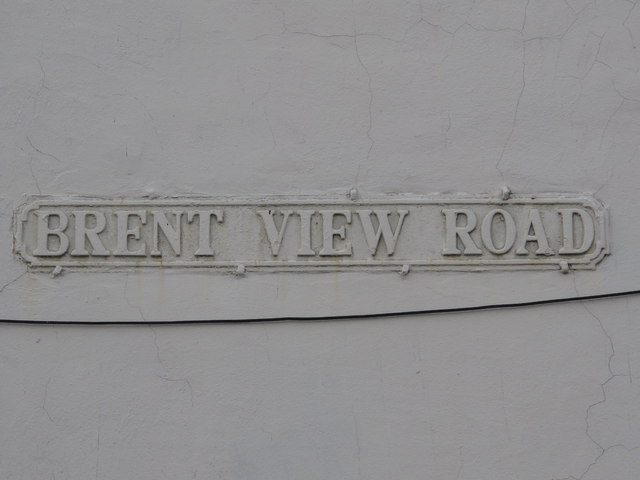 Sign for Brent View Road, NW4