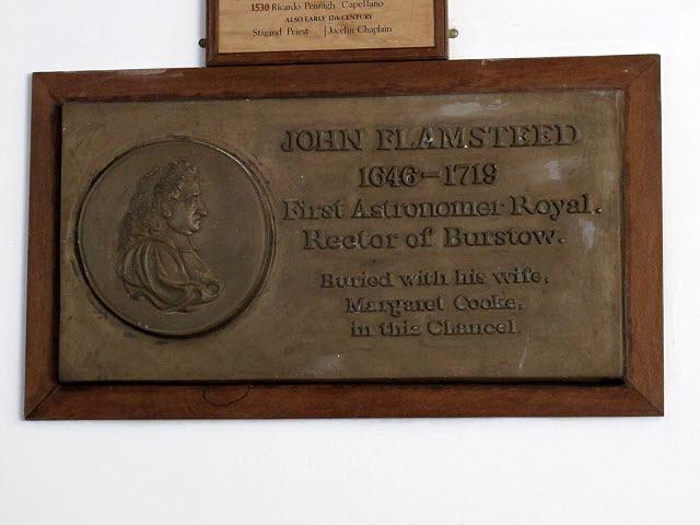 St Bartholomew, Burstow: Flamsteed memorial