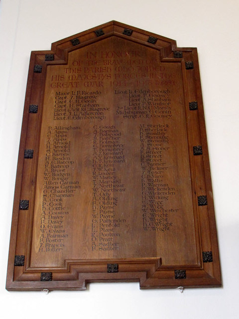 St Bartholomew, Burstow: war memorial