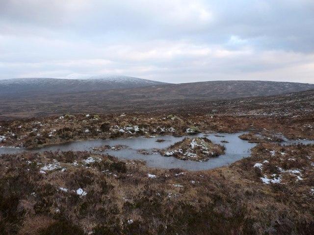 Moorland pool in Black Corries country