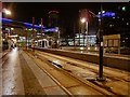 SJ8097 : MediaCityUK Tram Station by David Dixon