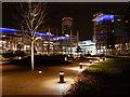 SJ8097 : The Piazza, MediaCityUK by David Dixon