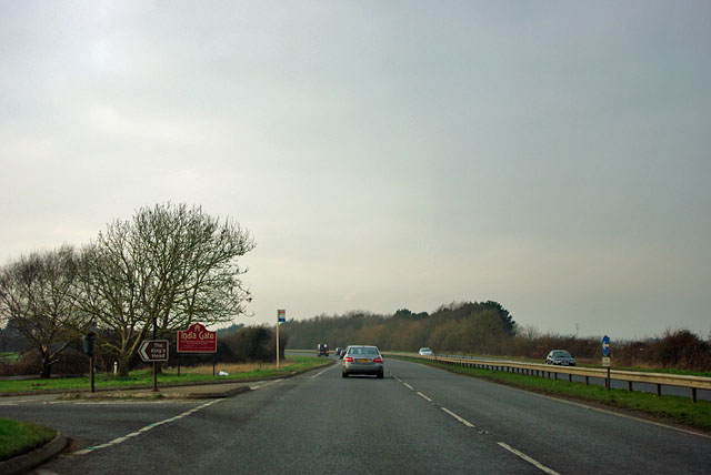 A259 at turning for the King's Head