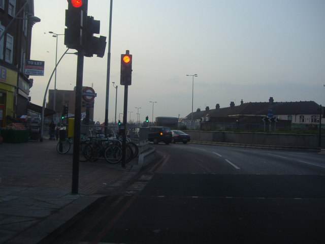 Waiting at Gants Hill roundabout westbound