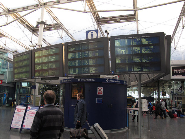 Piccadilly station departure board