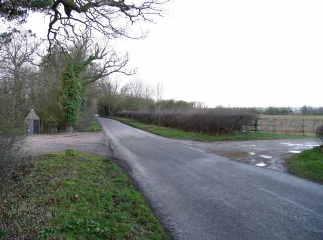 Entrances to Hall Farm and Harborough Farm on Pasture Lane