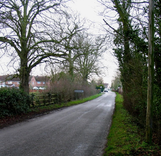 Pasture Lane enters Gaddesby