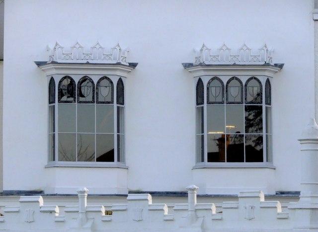 Gothic oriel windows at Strawberry Hill, Twickenham