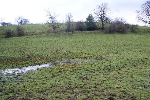 Waterlogged fields near East Marton