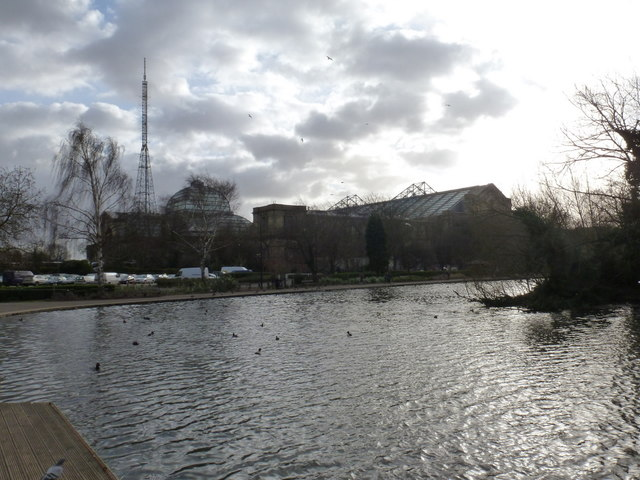 Alexandra Palace: the Palace from across the lake
