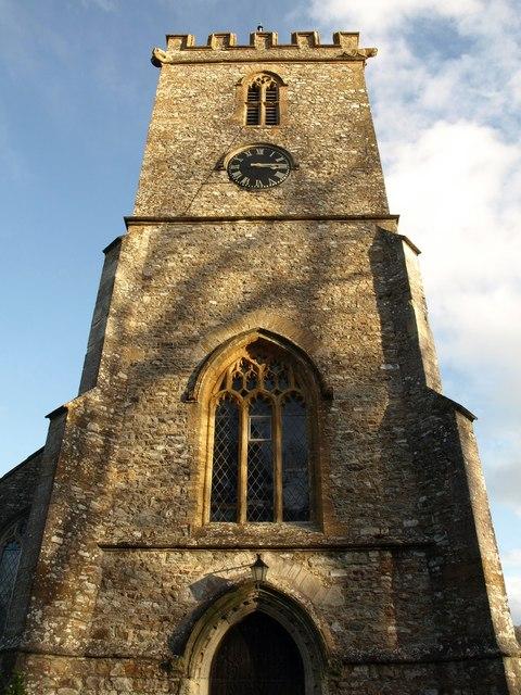 Tower, Upottery parish church