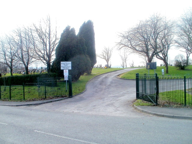 Entrance to Bedwas Cemetery